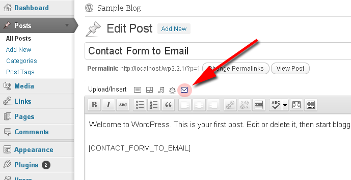 contact form shortcode