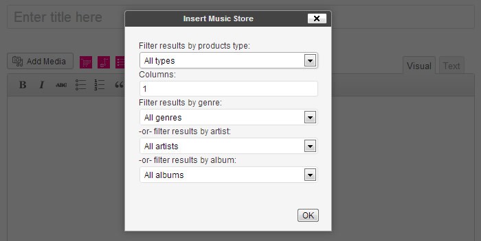 Music Store Insertion Interface