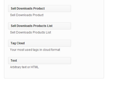 Products and Products List can be Inserted as Widget in Website's Sidebar